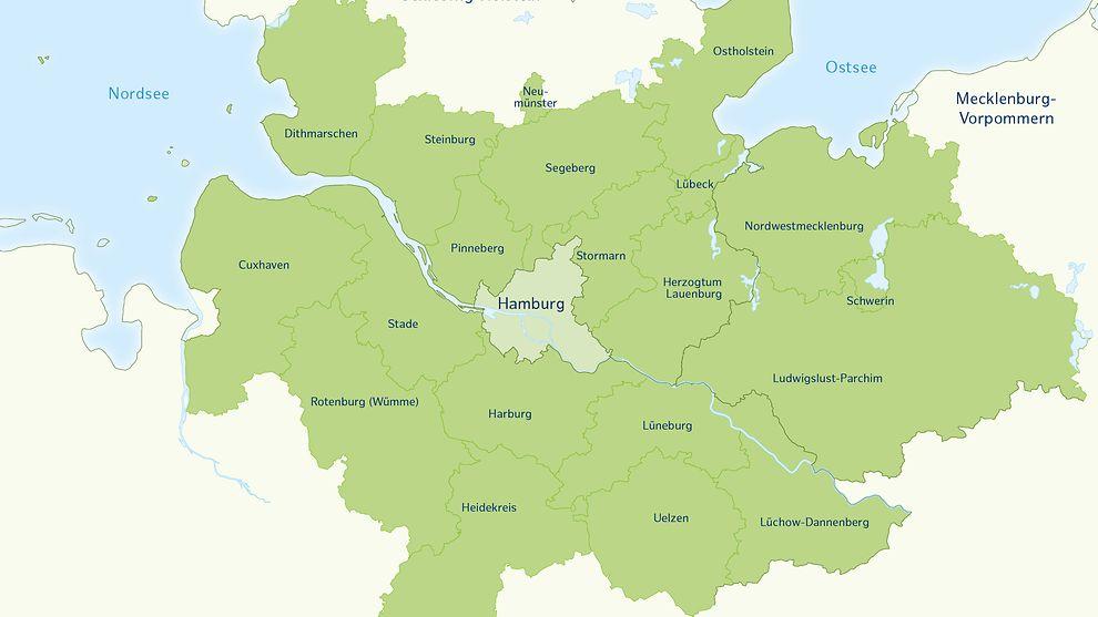 Übersicht Metropolregion Hamburg, Outplacement-Beratung